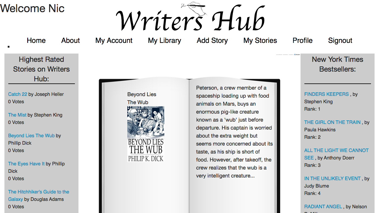 Writers Hub by Don McLamb and Nic Small